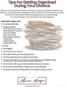 divorce tips for getting organized